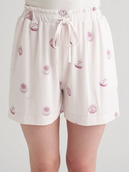 Whole Cake Motif Short Pants