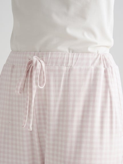 Gingham Modal Long Pants