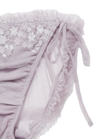 【Mucha and The Lady of the Camellias】Star Lace Bra & Shorts