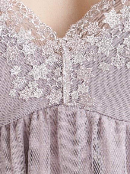 【Mucha and The Lady of the Camellias】 Star Lace Camisole