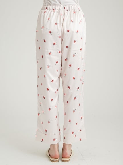 Strawberry Satin Long Pants