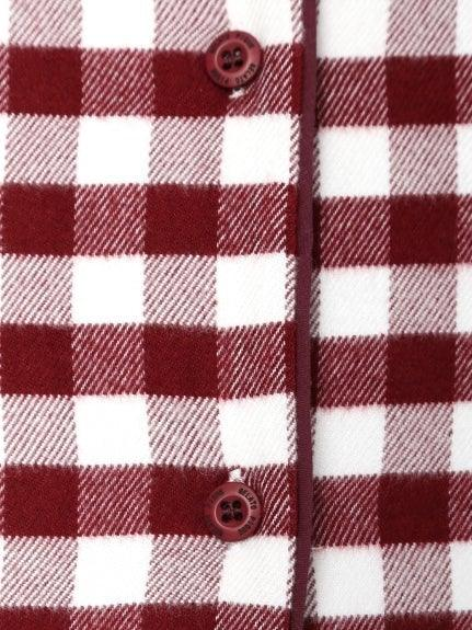 Flannel Gingham Check Shirt