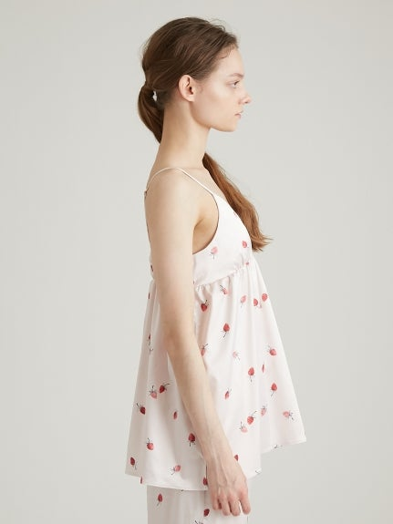 Strawberry Satin Camisole
