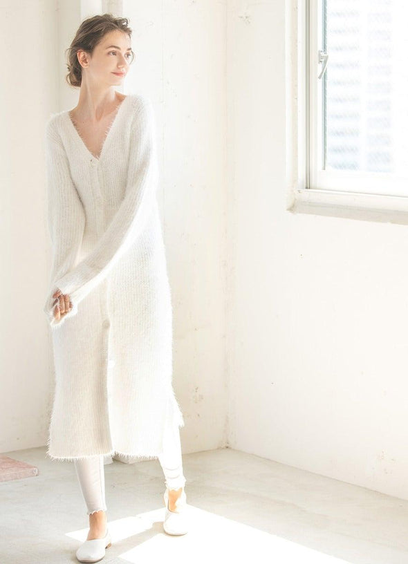 Feather Long Cardigan (PWNT194059)