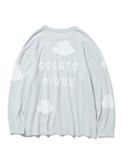 'Recycle Gelato' Cloud Jacquard Pullover