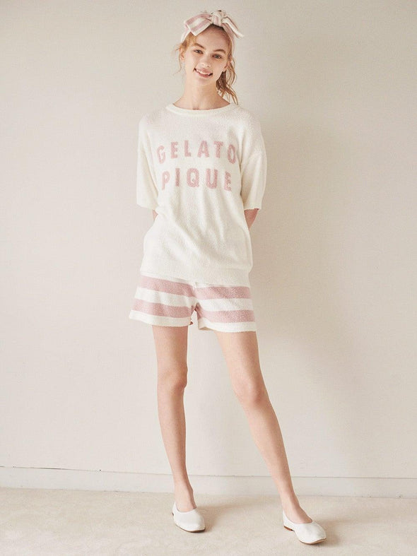 'Smoothie' Logo Jacquard Pullover and Shorts Set