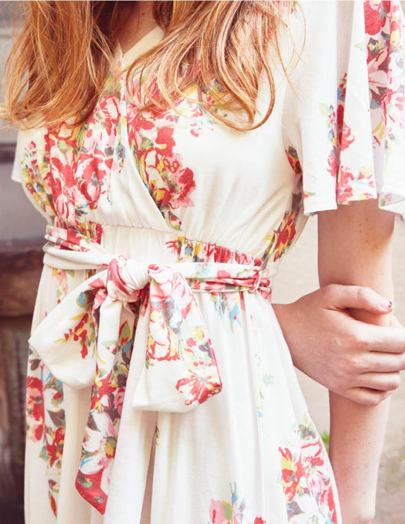 Flower Bouquet Long Dress