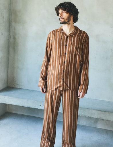 【HOMME】Striped Long Pants