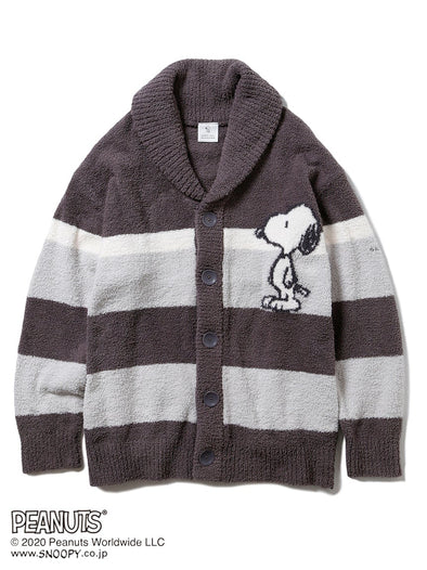 【PEANUTS】HOMME Baby Moco Border Shawl Cardigan for MEN