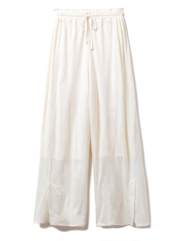 【Mucha and The Flowers】Carnation Jacquard Long Pants