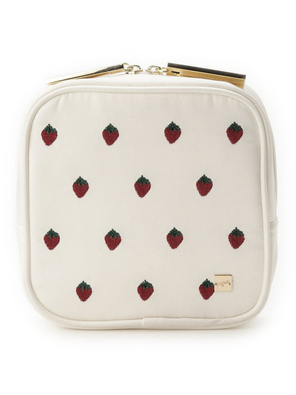 Strawberry Embroidered Tissue Pouch (PWGB194609)
