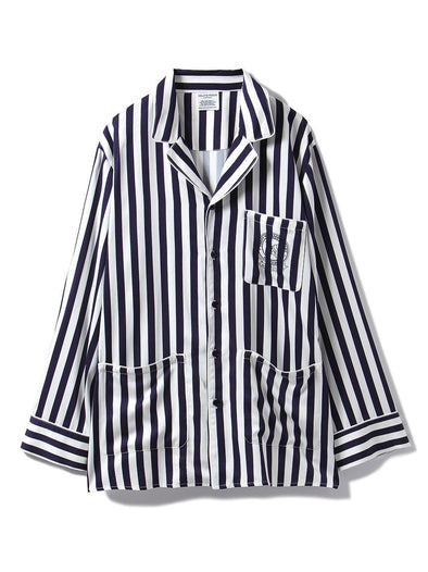 HOMME Anniversary Series Striped Satin Shirt (PMFT185966)