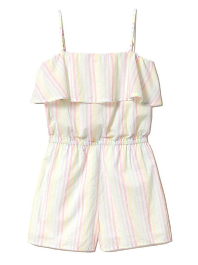 Cotton Candy Striped Sleeveless Romper