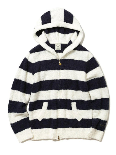 Black and White striped Hoodie (Gelato Pique)