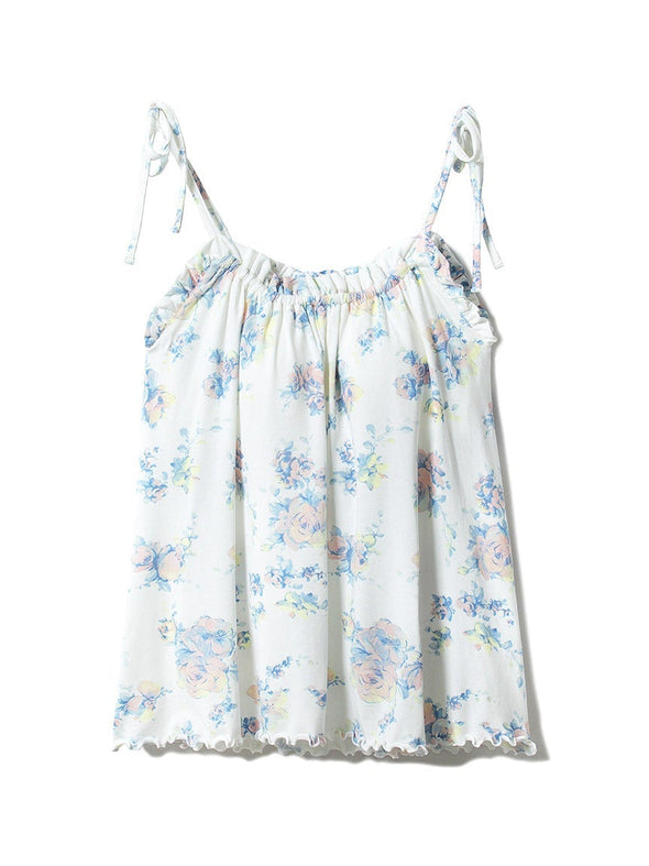 Pastel Flower Camisole with Built-in Bra