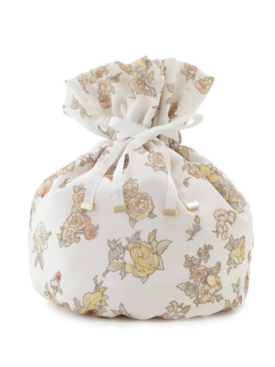【Mucha and The Flowers】Rose Drawstring Pouch