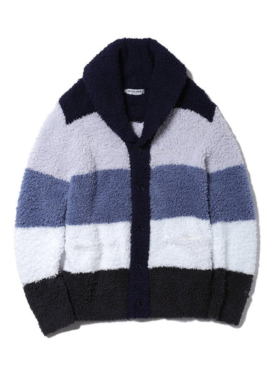 HOMME 'Gelato' Block Striped Shawl Cardgian(PMNT185938)