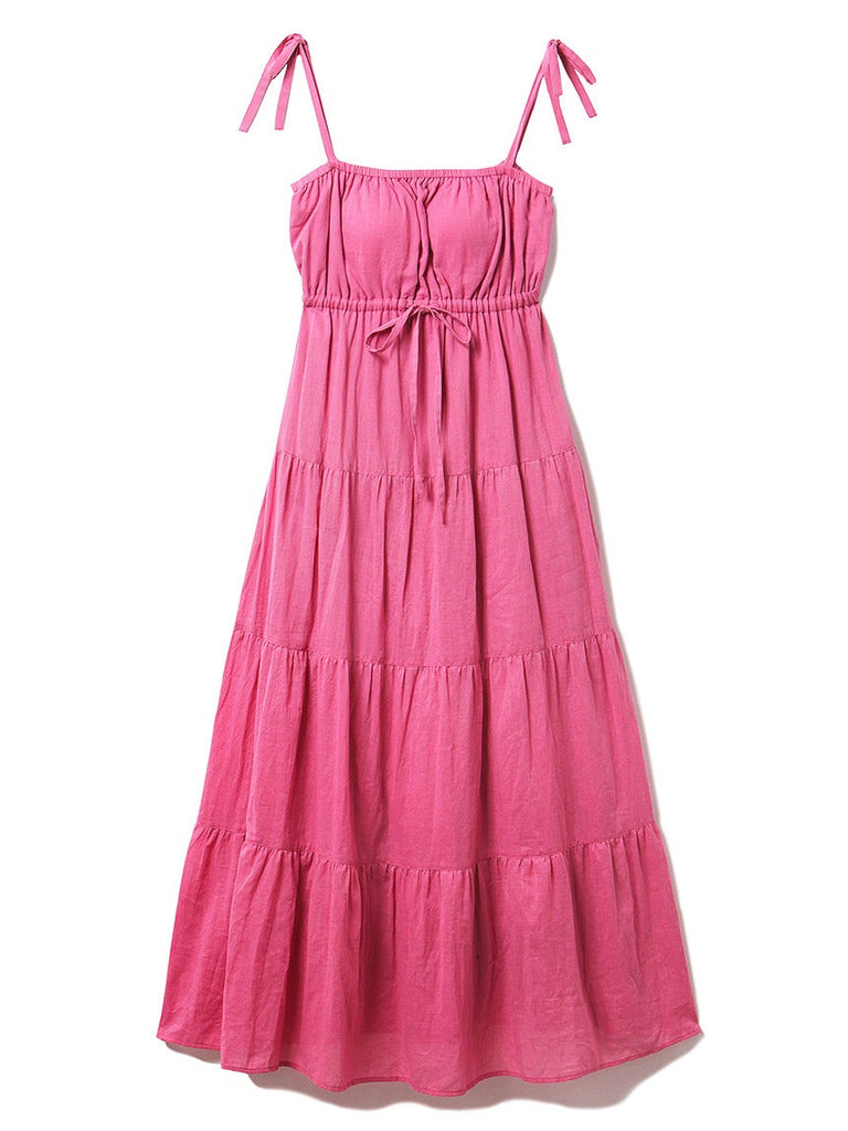 Resort Gauze Tiered Dress(PWFO192263)
