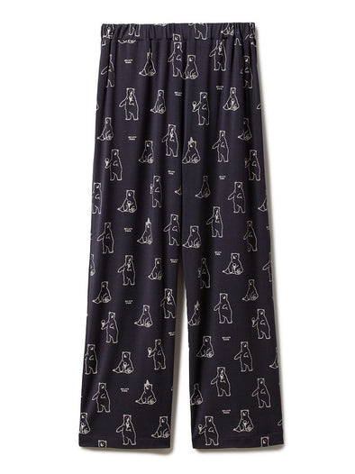 【Polar Bear Fair】Polar Bear Motif Cool Touch Long Pants