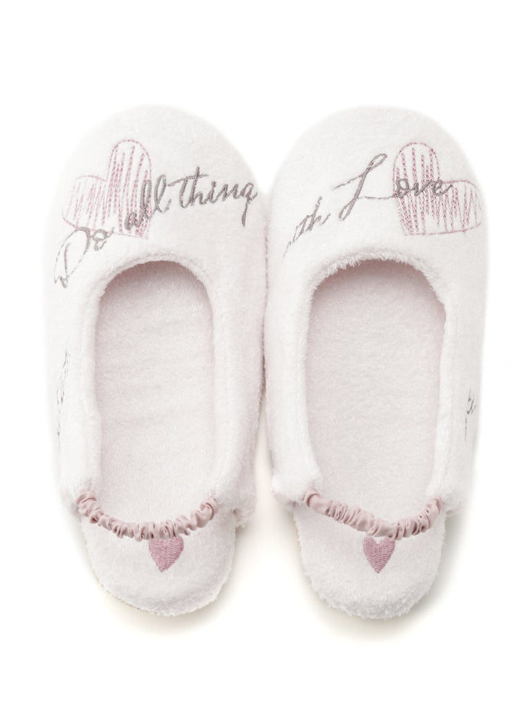 Smoothie' Heart Logo Slippers (PWGS191506)