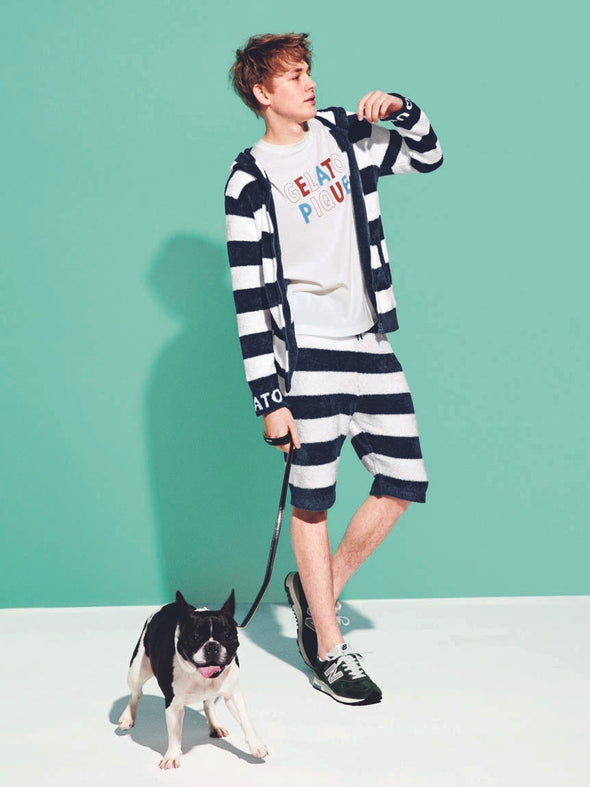 HOMME Smoothie 2 Stripe JQD Shorts (PMNP182901)