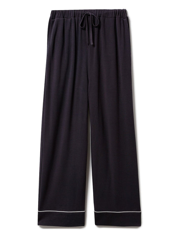 Rayon Inlay Long Pants