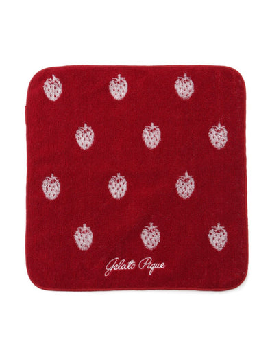 Strawberry Jacquard Hand Towel
