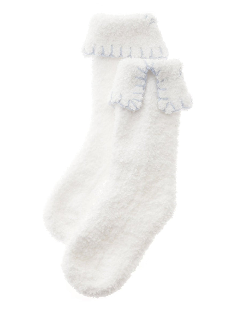 Soufflé  Blanket Stitch Short Socks (PWGS185516)