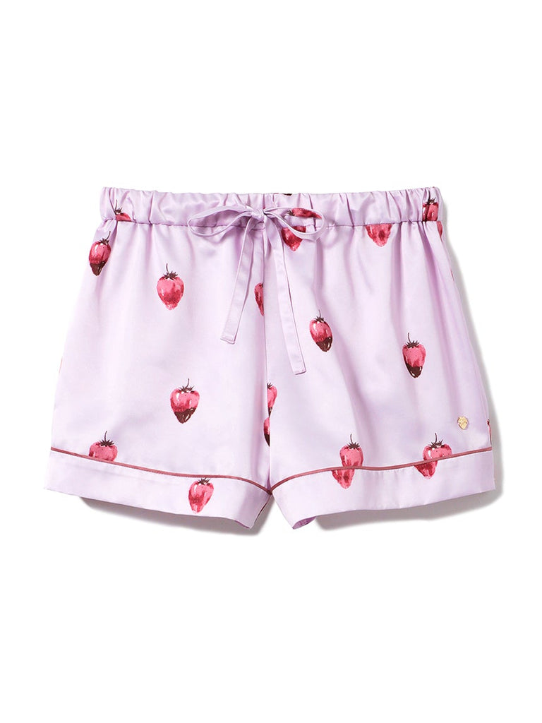 Strawberry Chocolate Satin Shorts (PWFP191258)
