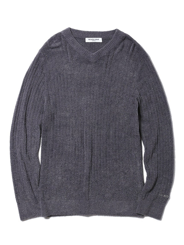 HOMME Hot Smoothie Ribbed Pullover (PMNT185906)