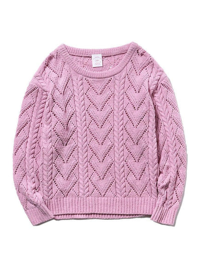 Cherry Blossom Aran Pullover (PWNT191121)