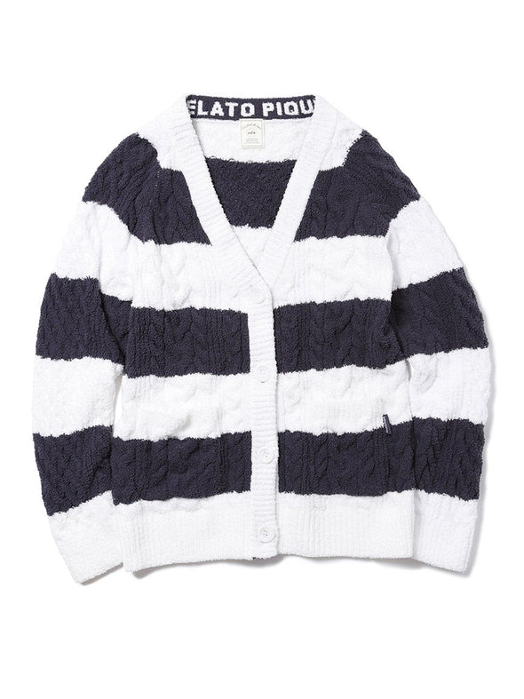 Striped Aran Cardigan