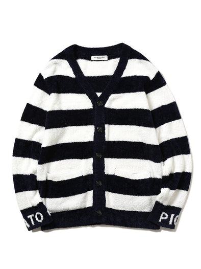 HOMME Smoothie 2 Stripe JQD Cardigan (PMNT182902)
