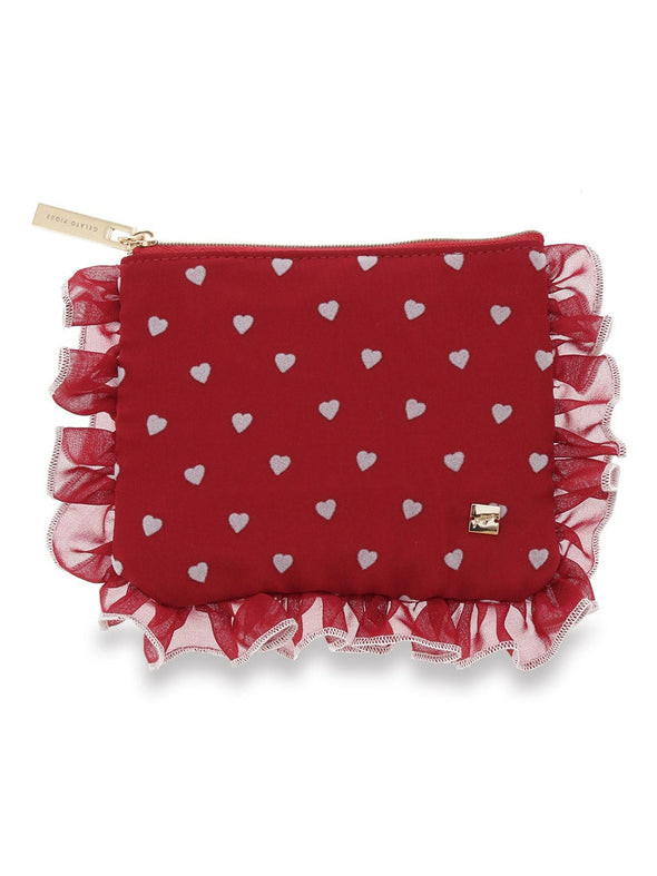 Heart Frocked Tissue Pouch