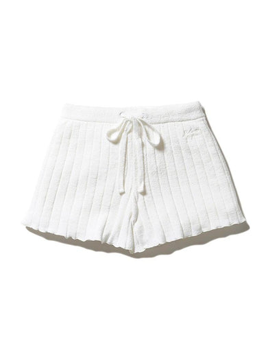 Airy Knitted Ribbed Shorts (PWNP192064)