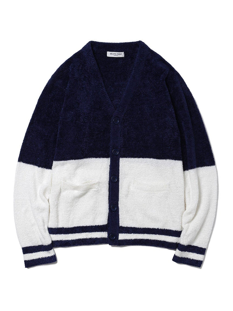 HOMME Smoothie 2 Color Jacquard Cardigan (PMNT185958)