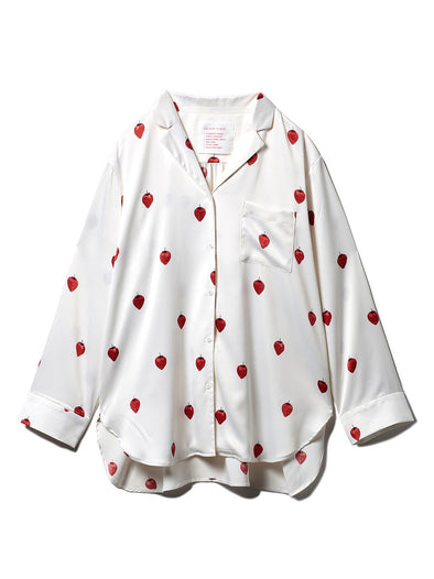 【PARIYA】Strawberry Satin Shirt