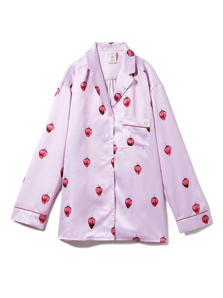 Strawberry Chocolate Satin Shirt (PWFT191257)