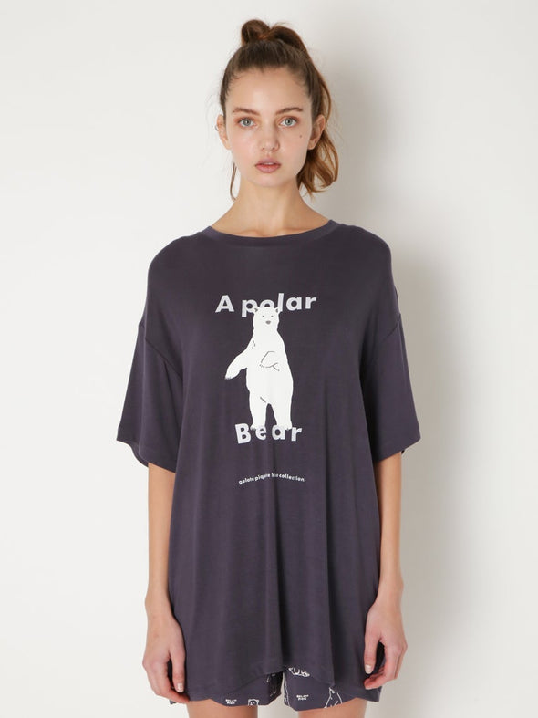 【Polar Bear Fair】Polar Bear Motif Cool Touch T-shirt