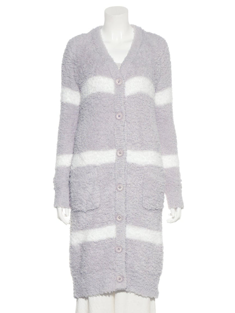 Gelato Striped Long Cardigan (PWNT185070)