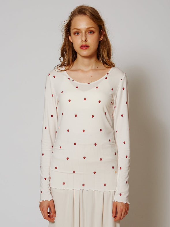 Strawberry Motif Pullover