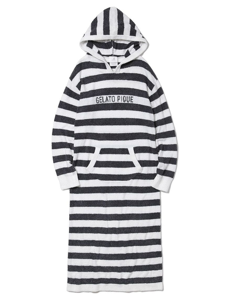 Hot Smoothie Striped Hooded Dress (PWNO185017)