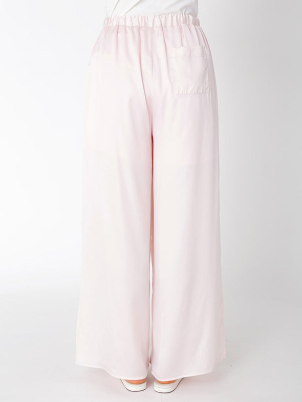 Motif Satin Long Pants