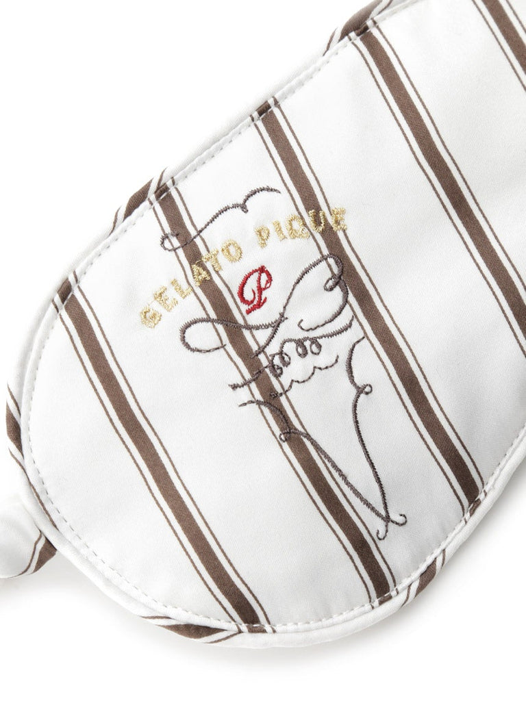 Motif Embroidery Stripe Eye Mask (PWGG184689)