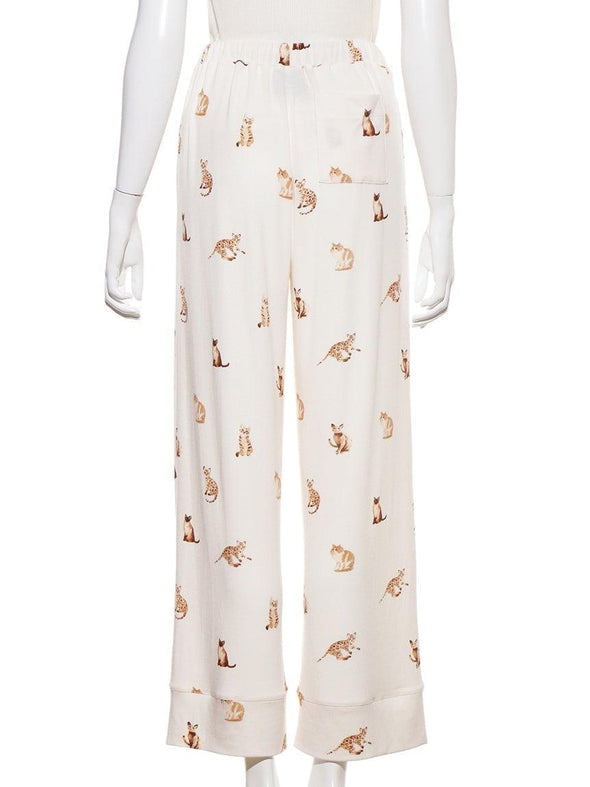 Cat Pattern Long Pants