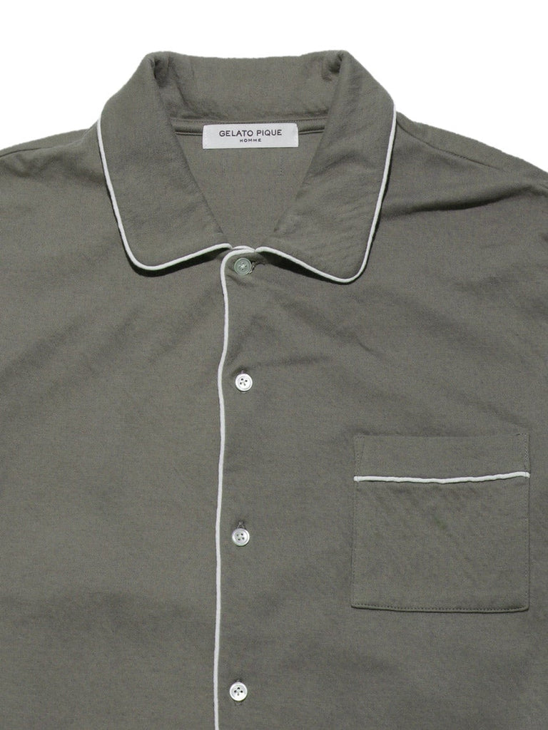 HOMME Organic Knotted Cotton Shirt (PMCT185979)