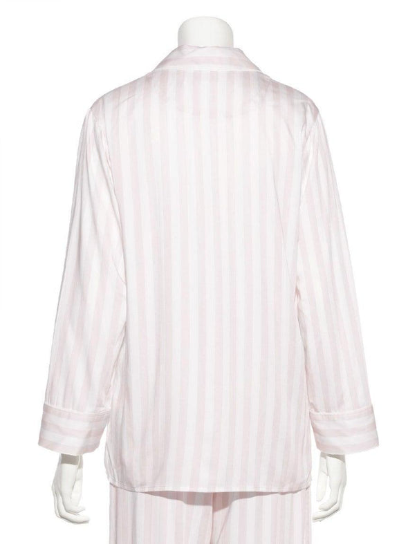 Anniversary Series Striped Satin Shirt (PWFT185367)