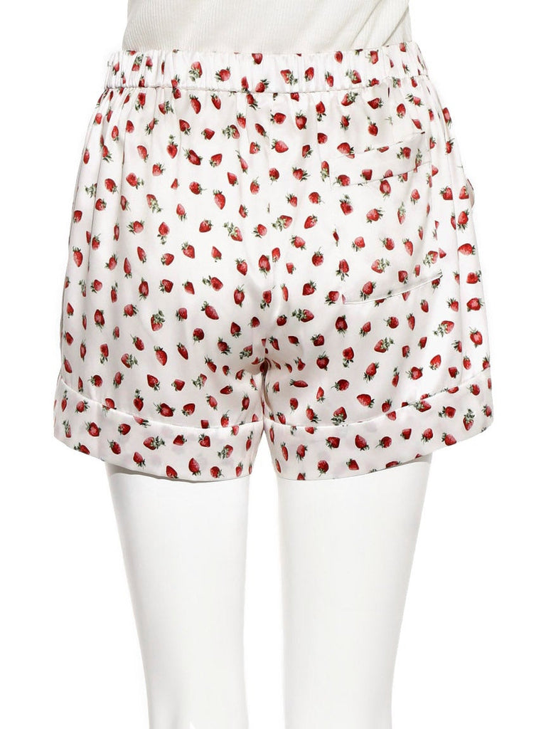 Strawberry Satin Shorts (PWFP185233)