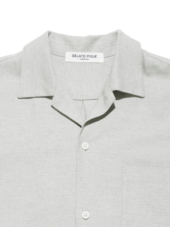 HOMME Linen Mix Collar Shirt