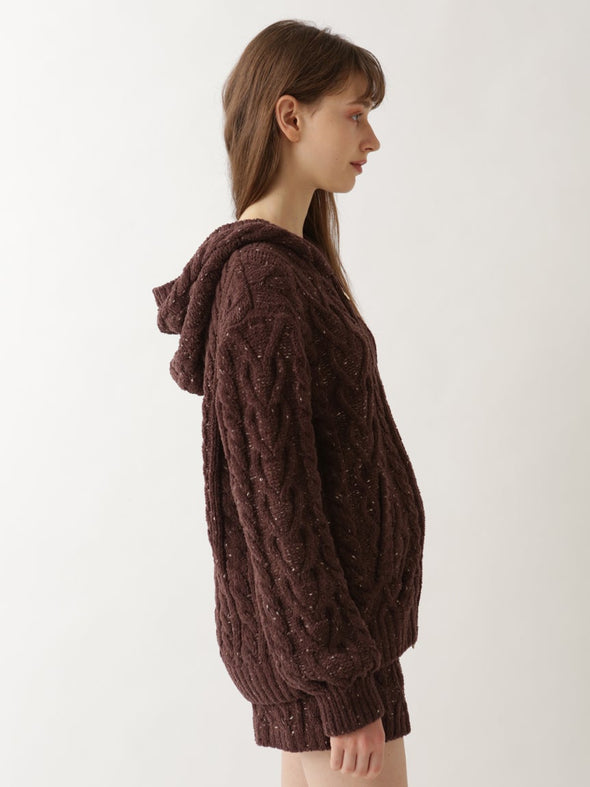 【Valentine's Day Limited Edition】Aran Knit Hoodie